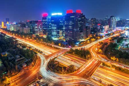 overpass: China Beijing overpass night view