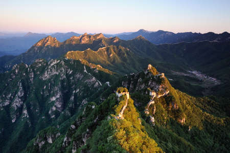 the great wall:  Great Wall of China Stock Photo