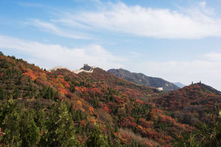 the great wall and the fall: Beijing Great Wall of China