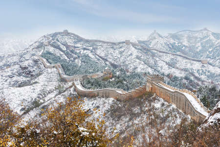 great: Beijing Jinshanling snow the Great Wall