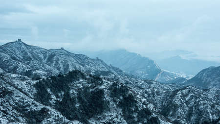 jinshanling: Beijing Jinshanling snow, the Great Wall