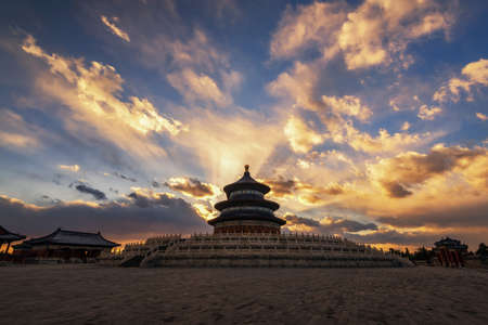 the summer palace: Summer palace with sunset view