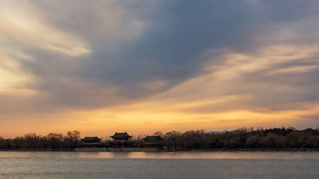 the summer palace: Under the setting sun Beijing the Summer Palace