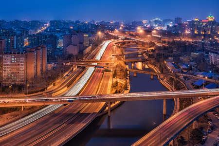 East Bridge Night in Beijing, China will