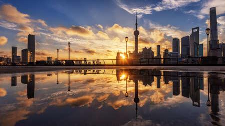 Beautiful Shanghai the Bund dawn