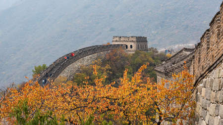the great wall and the fall: Mutianyu Great Wall, Beijing, China