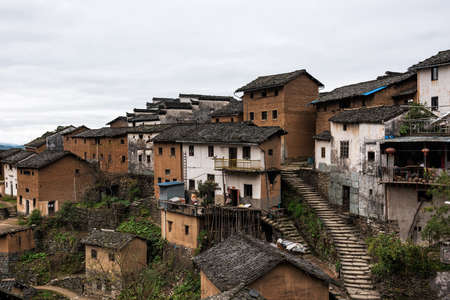 The Earthen Building Scene of Anhui Province in China