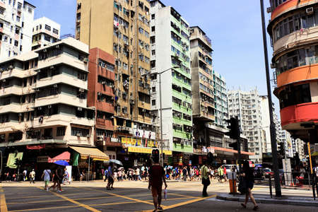 sham: The Sham Shui Po District crossing the street