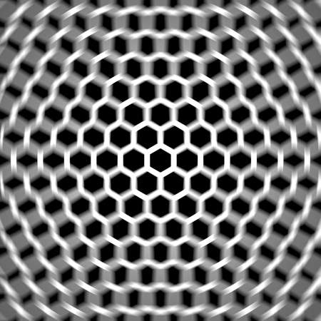 axial: Sacred geometry, the hexagonal geometric design Stock Photo