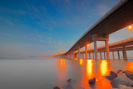 bay bridge: Shenzhen Bay Bridge Stock Photo