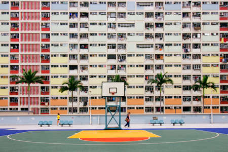 Choi Hung Estate, under basketball Editorial