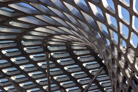 curve: Exterior curve of building Editorial
