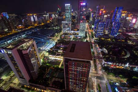 architectural lighting design: City night scene