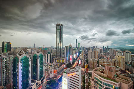 super highway: Shenzhen Huaqiang North SEG Plaza, skyline