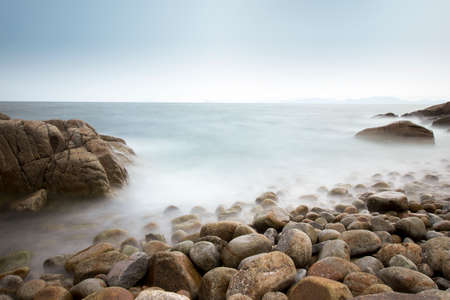 as far as the eye can see: The rocks and the sea on the coast