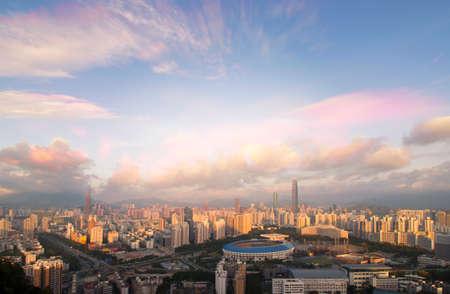 district: Luohu District Shenzhen skyline Editorial
