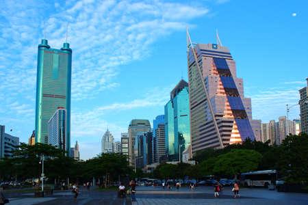 Shenzhen Caiwuwei surrounding skyscrapers Editorial