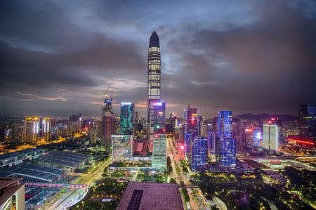 Shenzhen Fukuda CBD Ping An financial center night