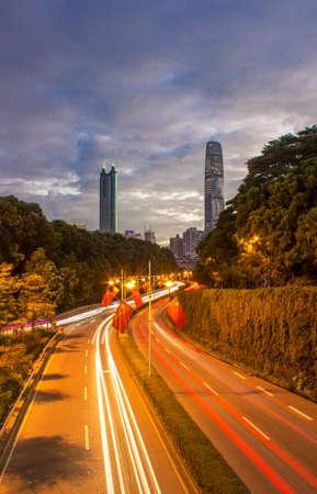 Shenzhen building landscape at night