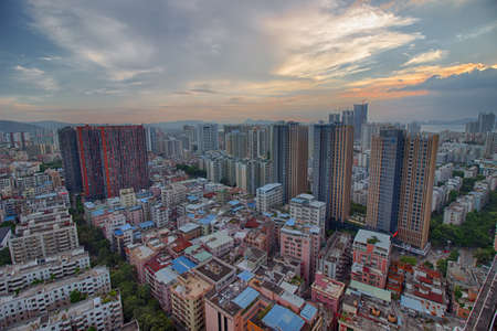 Villages and houses in Shenzhen City Editorial