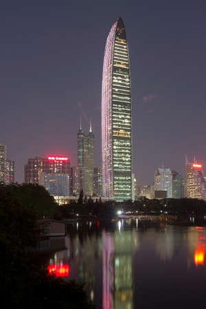 The night of Shenzhen Kingkey building Editorial
