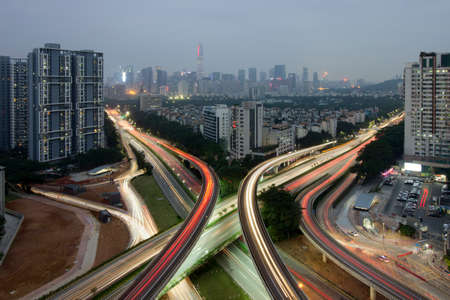 Interchange and urban construction in Shenzhen Editorial