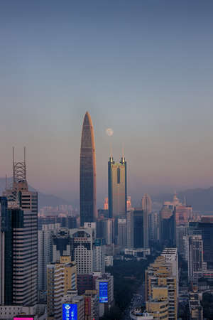 Shenzhen Kingkey 100 and building skyline