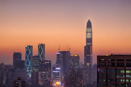 Futian District Shenzhen CBD business district