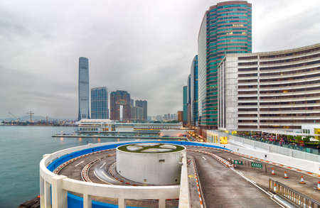 The city of Hongkong and in the World Trade Square