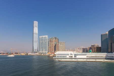 Hongkong Victoria Harbour and the World Trade Center