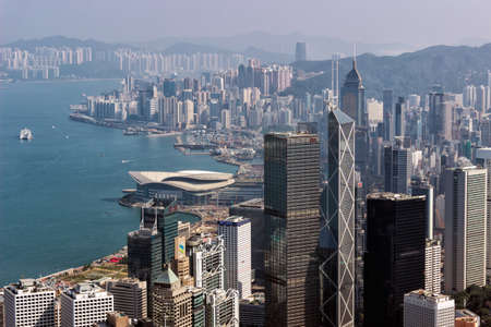 expanse: Buildings on both sides of Victoria Harbour in Hongkong