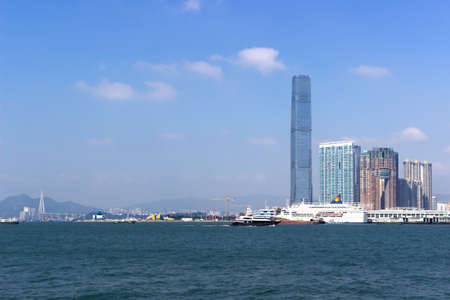 world trade: Hongkong Victoria Harbour and the World Trade Center