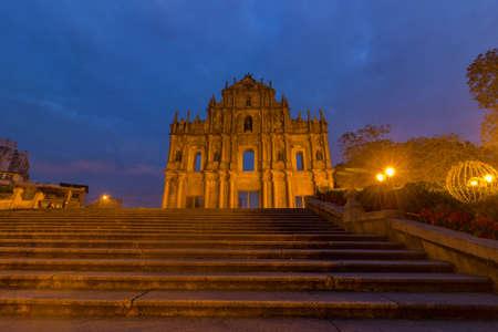 Macao ruins of St. Paul