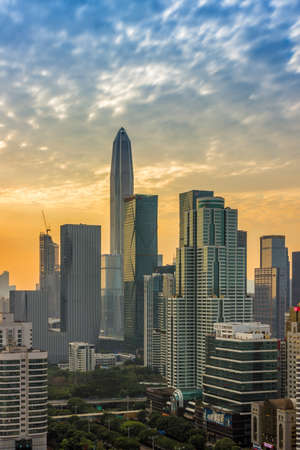 Buildings and skyline in Shenzhen Editorial