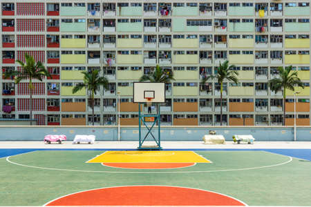 Hongkong choi hung Village and basketball field