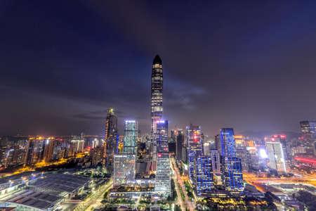 Night view of Shenzhen Pingan international financial center