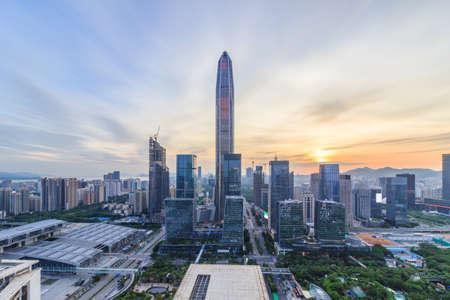 stad Shenzhen skyline Stockfoto