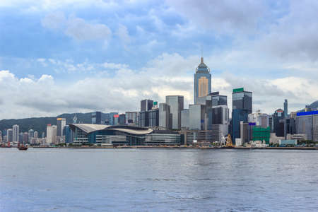 Hongkong Convention and Exhibition Centre and surrounding buildings