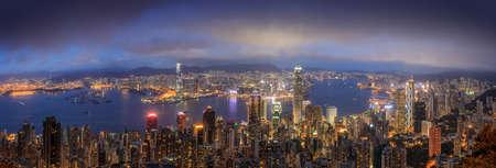 The night peak at Victoria Peak, Hongkong