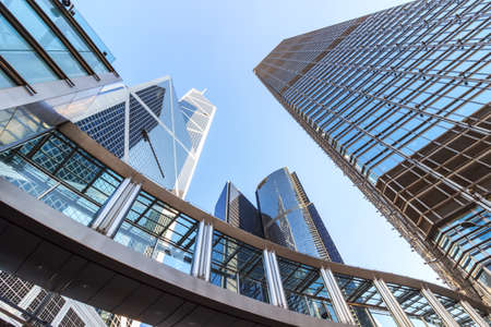 Skyscrapers in central Hongkong Stock Photo