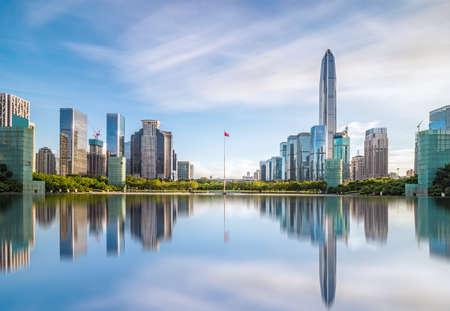 Downtown skyline of Shenzhen