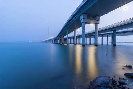 Shenzhen Bay Bridge at night