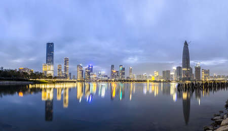 Landscape view of buildings in Shenzhen, China Stock Photo