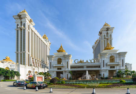 Macao Galaxy amusement resort hotel under the blue sky Editorial