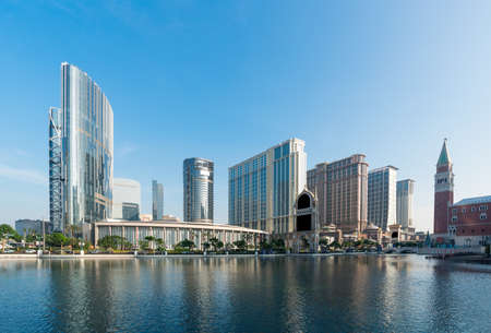 Macau city landscape view under the blue sky Stock Photo