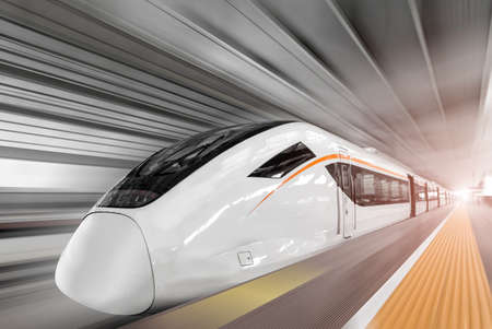 High speed railway train
