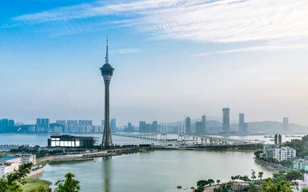 Macao skyline Stock Photo