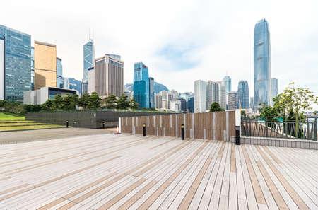 Urban buildings and squares in Hongkong 스톡 콘텐츠