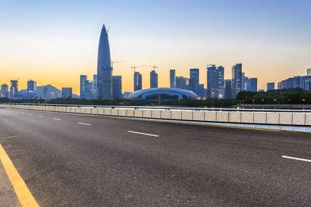 shenzhen landmark building and highway