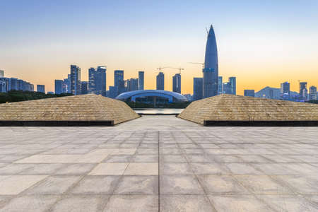 Shenzhen Houhai financial district and outdoor square